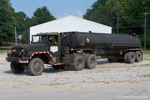 6 Tanker 6 - 1973 Kaiser M52-A2: semi-tractor with 380gpm/5500gal trailer