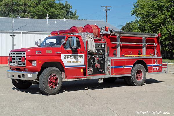 Engine 503 - 1991 Ford F800/Darley – 750gpm/1000gal