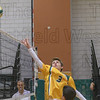 Southwick setter Nick Brown makes a save on a ball that was short of the net