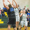 Kayla Andrade shoots one over the Palmer defender