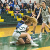 Hannah Burke fights for the loose ball