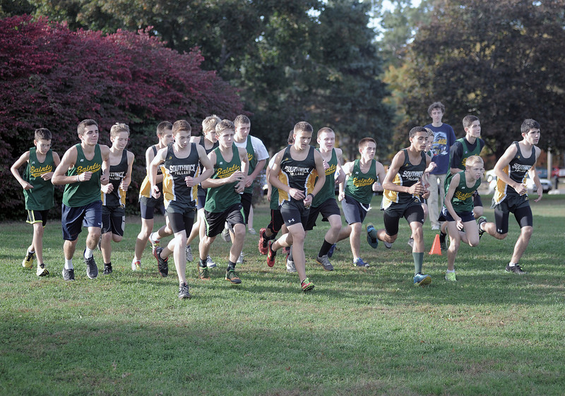 150 Boys Start Cross Country