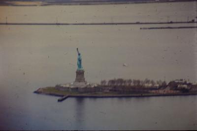 New York Statue de la Liberté depuis World Trade Center