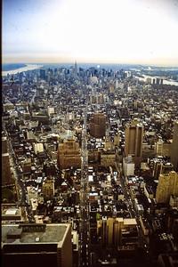 New York vue vers le nord depuis World Trade Center 1988