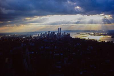 New York vue vers le sud depuis l'Empire State Building (1988)