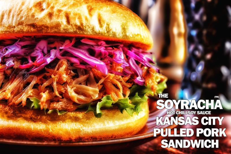 Soyracha KC Pulled Pork Sandwich