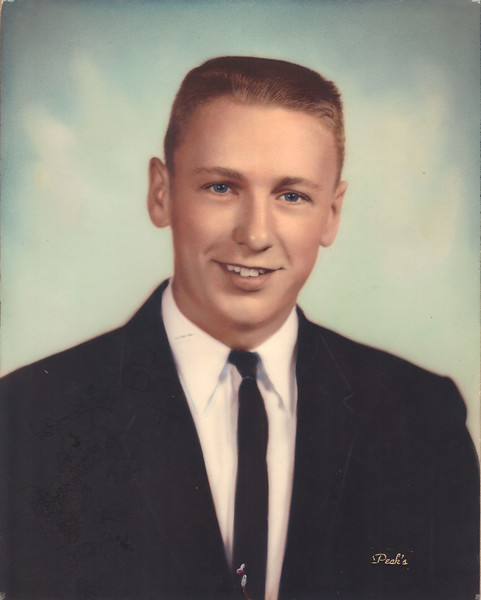 "Ronald Johnson's senior picture. Johnson graduated from Uhrichsville High School (before the Uhrichsville/Dennison consolidation into ""Claymont"") in 1962."