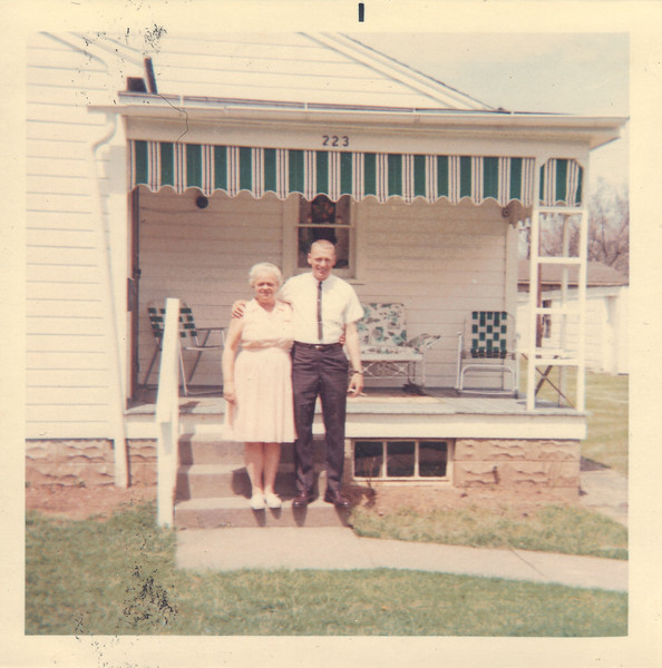 Ronnie & his mother Ruth.<br /> Johnson's parents lived at 223 W. 7th St. in Uhrichsville. The house is still there to this day and maybe 200 yards from his gravesite at the adjacent Union Cemetery.