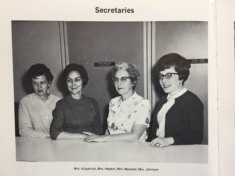 As the wedding article stated, Judy Johnson graduated from Uhrichsville High School and then went on to Bliss Business College and was employed as a secretary at the high school. <br /> This photo was taken from the 1968 yearbook, and likely before the news that Ronald was KIA. <br /> Mike Trimmer said that 1968 was his first year teaching at the high school and can remember the day the messenger came and notified Judy. Trimmer said that Judy's screams filled the entire building and she ran out of the school, and that he can remember, she never came back to work.