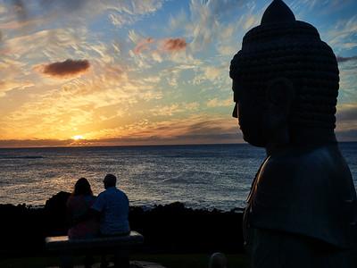 Hilton Waikaloa Big Island Sunset Buddha