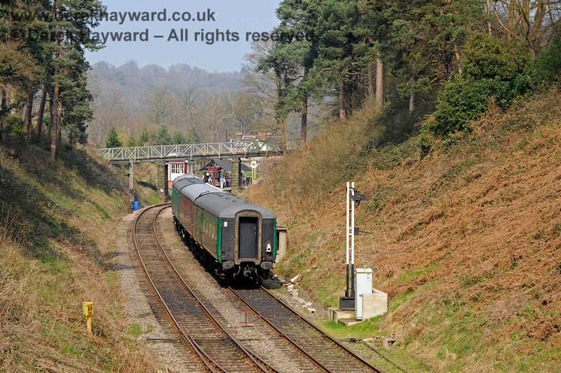 The passing loop west of Groombridge, with signal posts erected but yet to receive their signal arms.  27.03.2011 10455