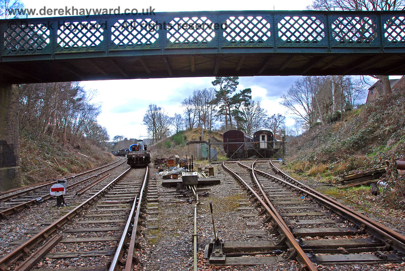 """A wider view of """"Groombridge Junction"""" shows the line to """"BIrchden Junction"""" on the left, and what would have been the line to """"Ashurst Junction"""" on the right.  With a little imagination you can see trains passing through here on their original routes.  02.03.2009"""