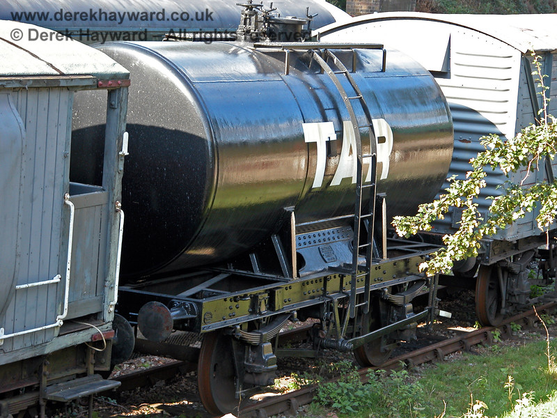 A tar wagon in Groombridge Sidings.  19.09.2005