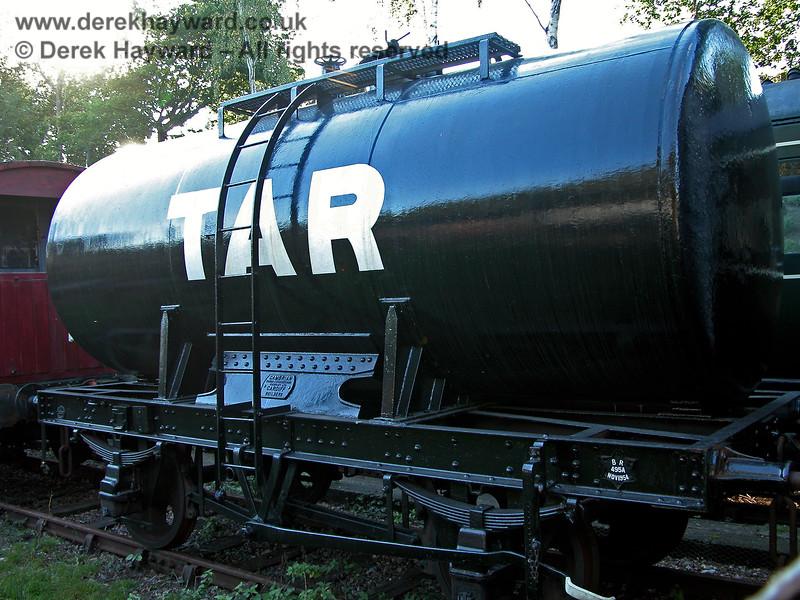 A tar wagon in Groombridge Sidings.  19.09.2005