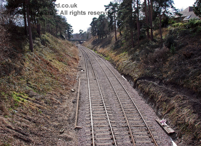 The same view as the previous picture, but taken after alterations and realignment of the track. The improved layout is obvious. 02.03.2009