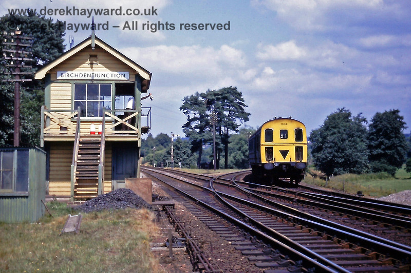Birchden Junction on 18 July 1970 with 1304 emerging from the Groombridge line on the 11:58 from Tonbridge.  Eric Kemp retains all rights to this image.