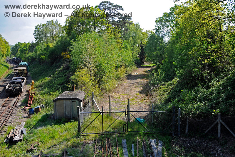 The land which accommodated the lifted sidings on the Ashurst Spur.  29.05.2021 20705