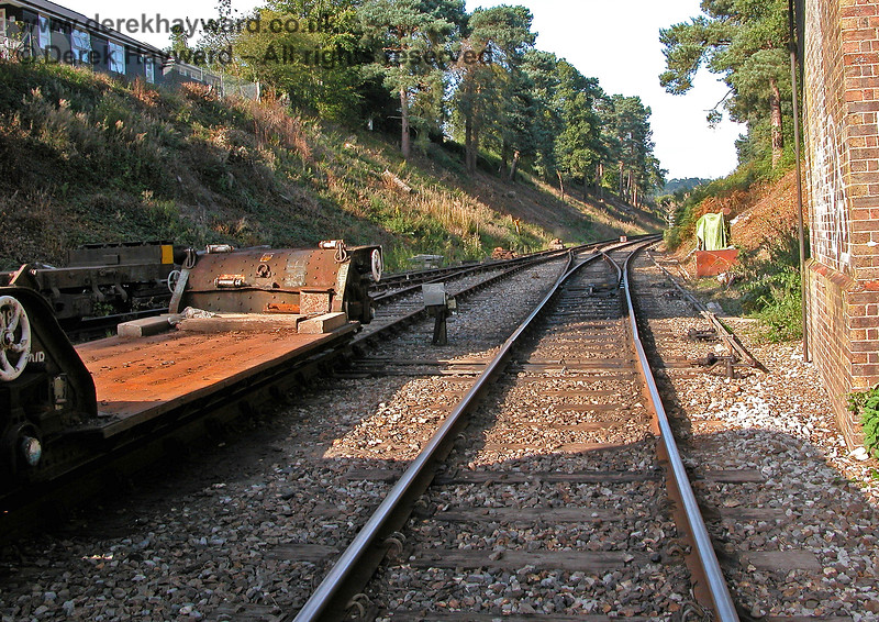 The reverse of the previous view looking north towards Groombridge Junction from the open Birchden line. 19.09.2005