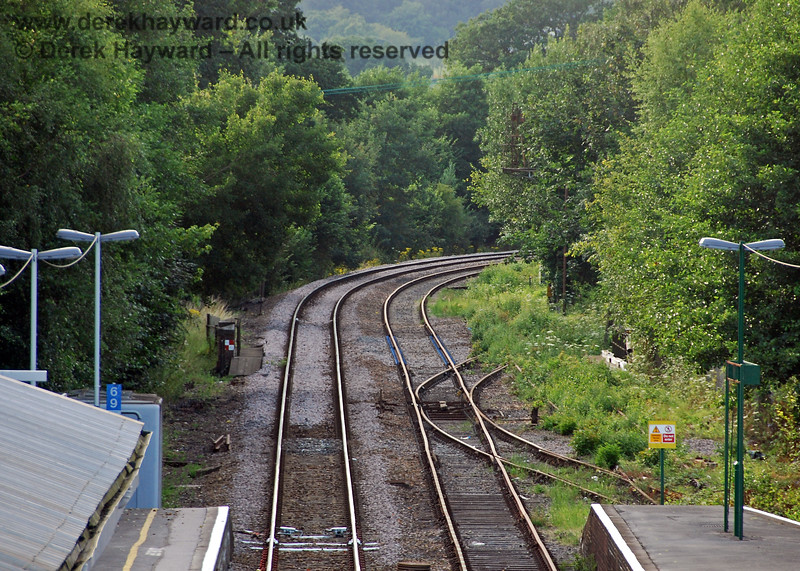 Taken in July 2008, the following group of pictures show that the contractors had finished preparing the Spa Valley Railway running line into Eridge Station.  This view looks north on 29.07.2008