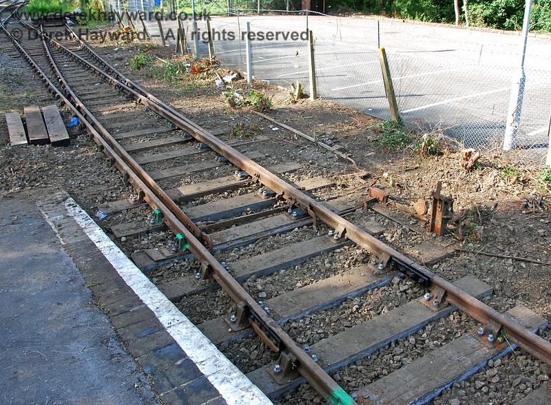 A closer view of the remains of the point mechanism.  These points were presumably originally worked from the signal box to the north of the station. 14.09.2008