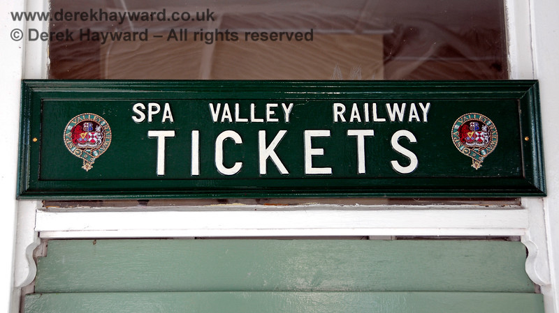 A close-up of the Spar Valley Railway ticket office sign at Eridge. 27.03.2011 6619