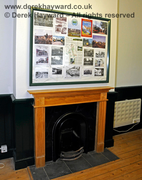 The refurbished fireplace in the waiting room at Eridge Station. 29.05.2021 20601