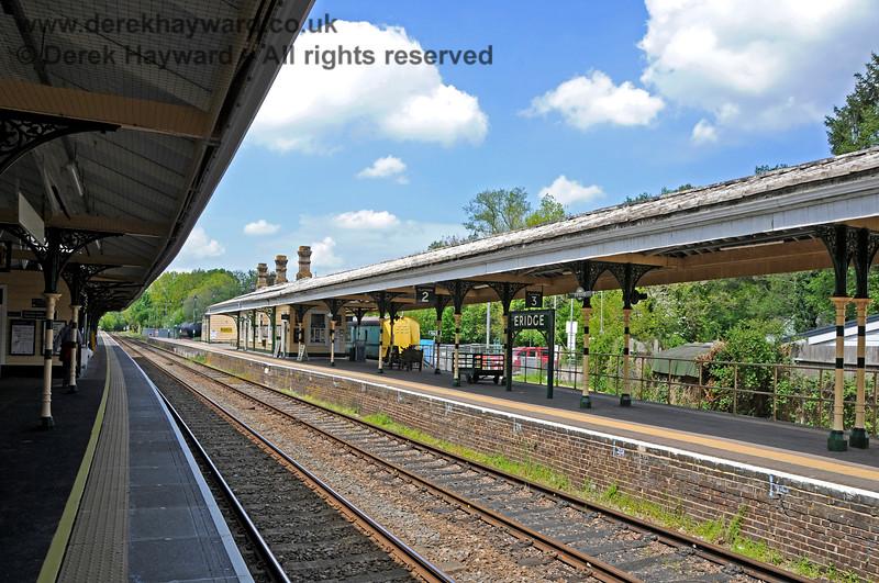 Looking north towards the Spa Valley Railway platforms at Eridge. 29.05.2021 20611