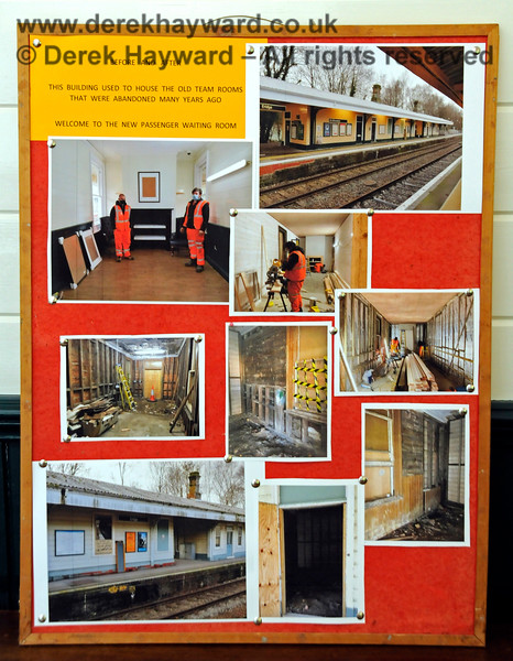 The contractors who built the new Waiting Room at Eridge had left a display board with photographs of the works. 29.05.2021 20618