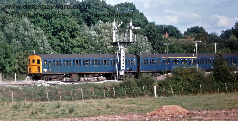 1311 departs from Platform 2 at Eridge with the 16:08 Uckfield to Tonbridge service. Sunday 21.09.1975.  Eric Kemp retains all rights to this image.