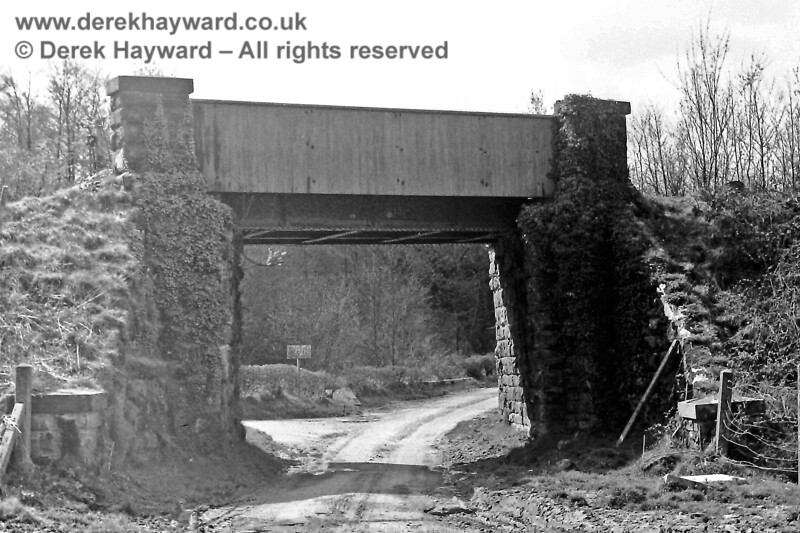 The old Cuckoo line bridge at Redgate Mill Junction south of Eridge.  Sunday 20.04.1975.  Eric Kemp retains all rights to this image.