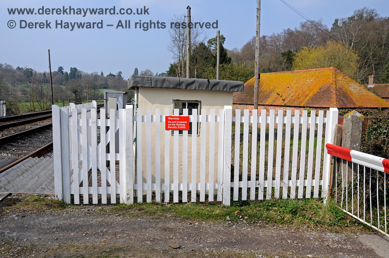 The refurbished and fenced Crossing Keeper's hut on the east side of Forge Farm Crossing. 27.03.2011 6632