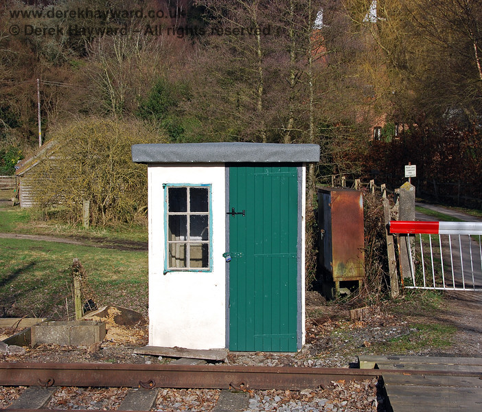 A close up of the refurbished Crossing Keeper's hut at Forge Farm. 02.03.2009