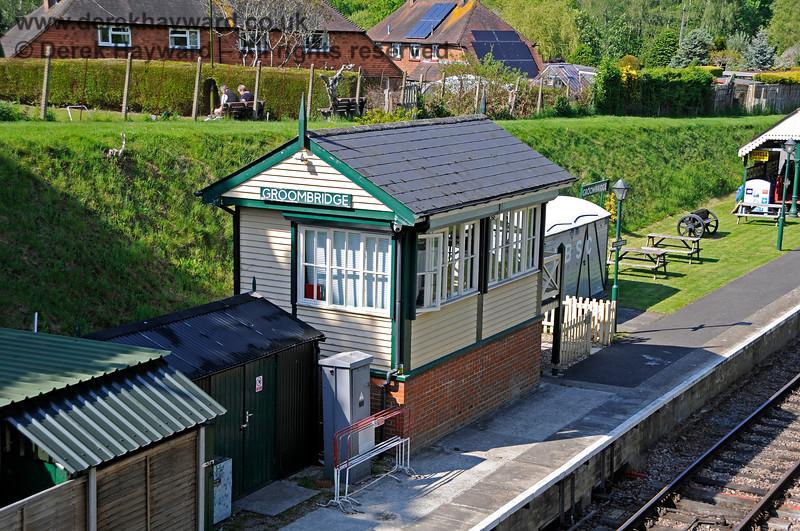 Groombridge signal box, pictured on 29.05.2021 20701