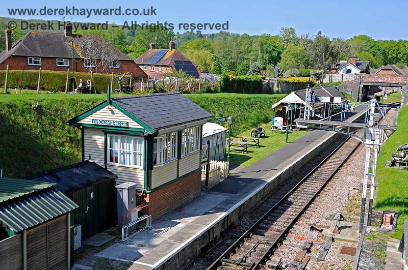 Groombridge signal box and station platform, pictured on 29.05.2021 20700
