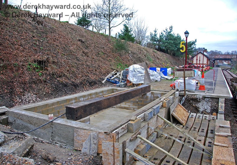 The foundations for Groombridge signal box. 28.01.2008