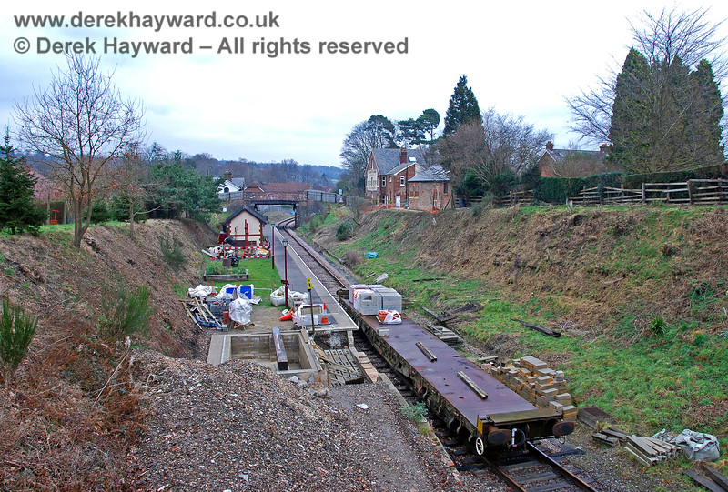 Another view of the on-going construction work at Groombridge Station. 28.01.2008