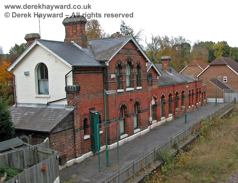 The rear of the old Groombridge Station building looking east 19.01.2003