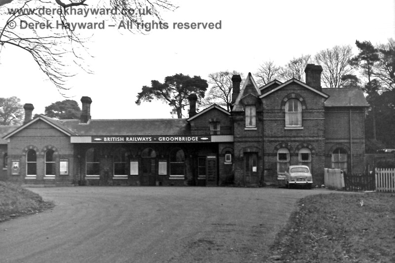 The station forecourt at Groombridge on 30.12.1969.  At the time it was somewhat easier to find a parking space.  Eric Kemp retains all rights to this image.