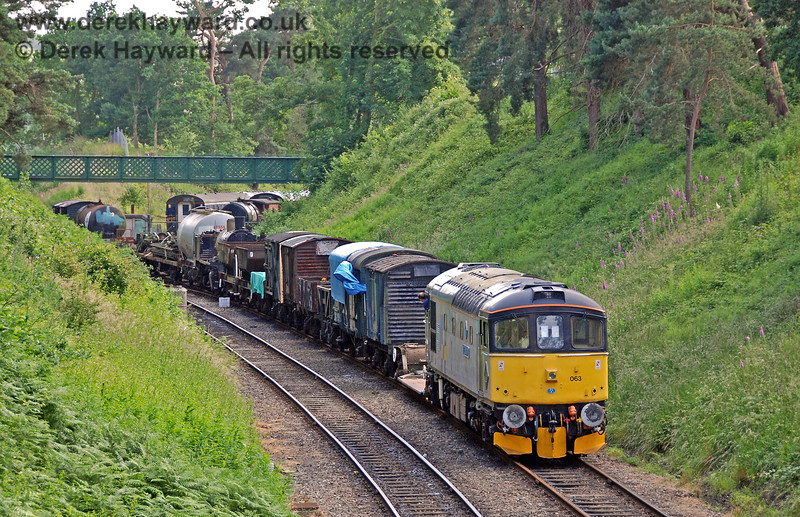 33063 remembers past times by shunting wagons west of Groombridge. 22.06.2008 0199