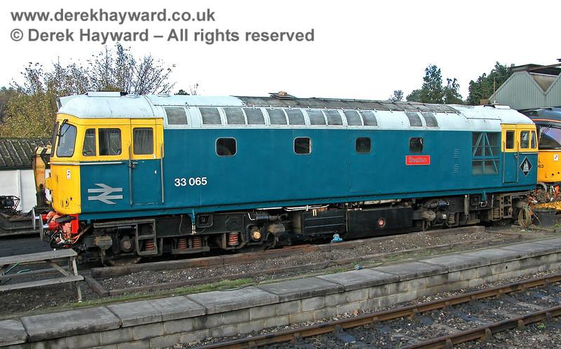 33065 Sealion outside Tunbridge Wells shed.. 29.10.2005