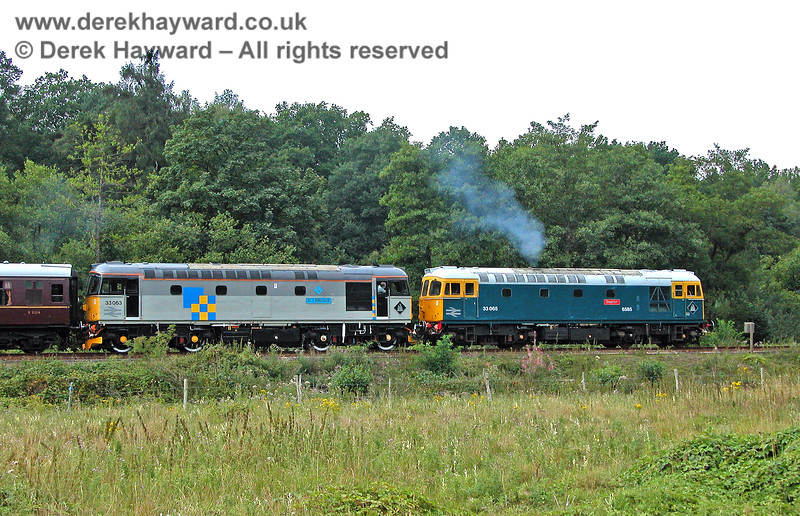 33063 and 33065 leaving Birchden. 05.08.2006