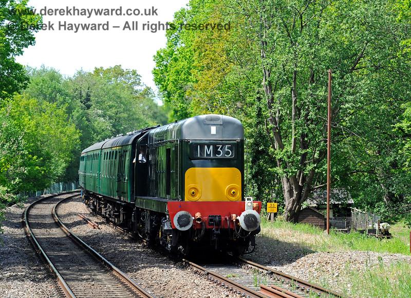 D8188 alongside the milepost on the approach to Eridge. 29.05.2021 18015
