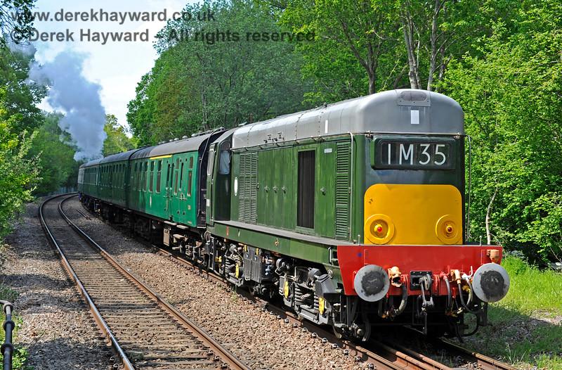 D8188 on the rear of a train leaving Eridge. 29.05.2021 18033