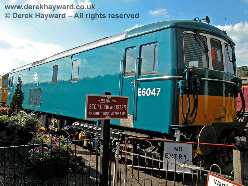 E6047 outside Tunbridge Wells shed.  19.09.2005