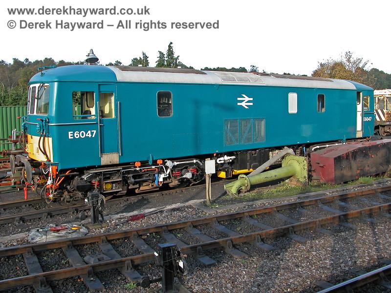 E6047 outside Tunbridge Wells shed.  29.10.2005