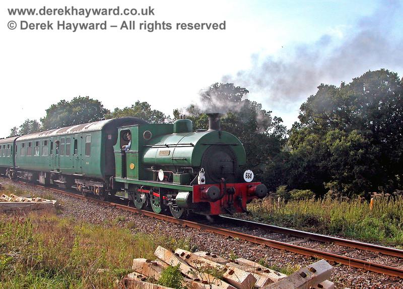 1636 Fonmon approaching Groombridge on the rear of a train. 17.09.2006