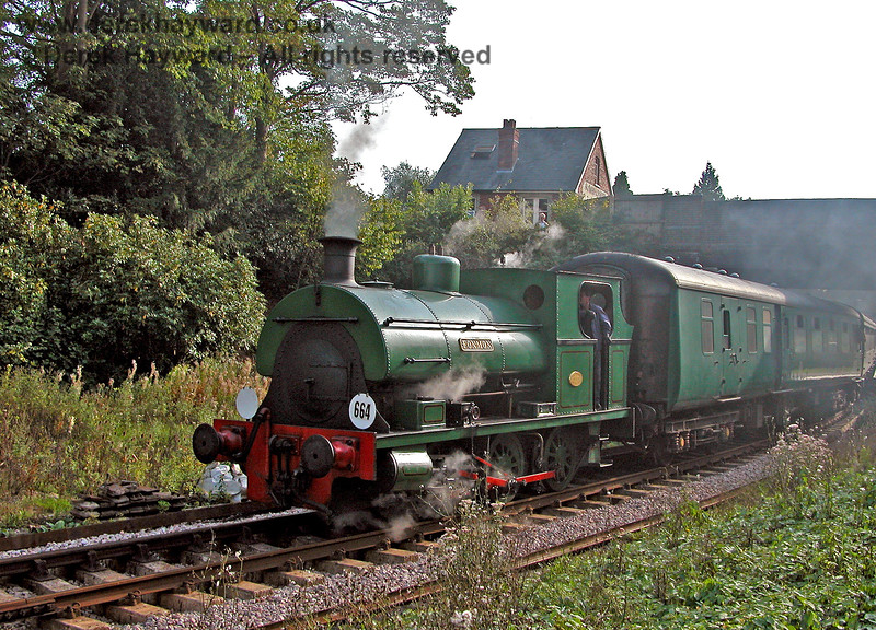 1636 Fonmon leaving Groombridge. 17.09.2006.  This locomotive has since left the railway.