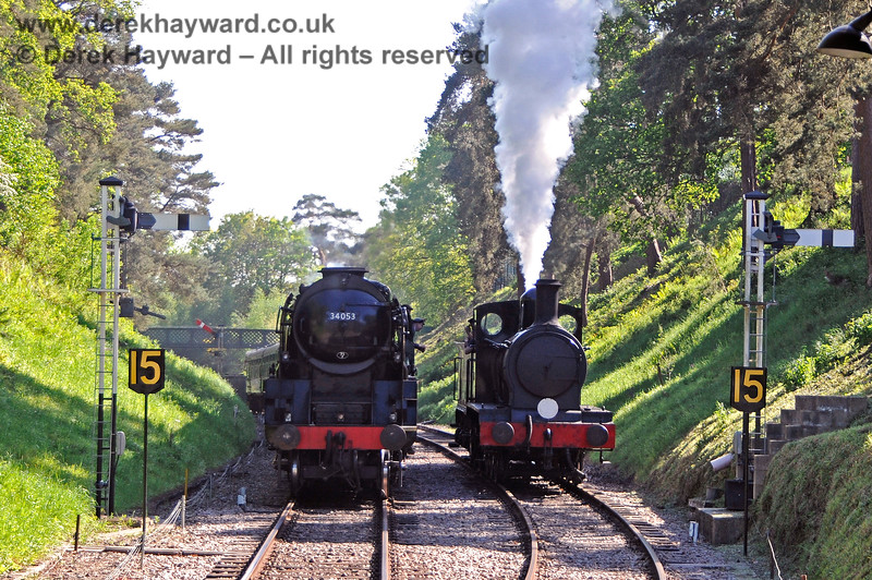 34053 and 2890 in the cutting at Groombridge. 30.05.2021 20801