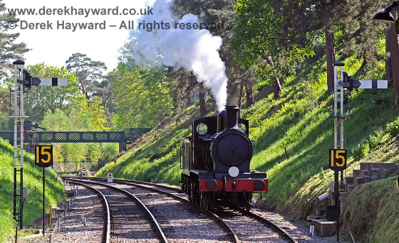 2890 waiting in the cutting at Groombridge. 30.05.2021 18145