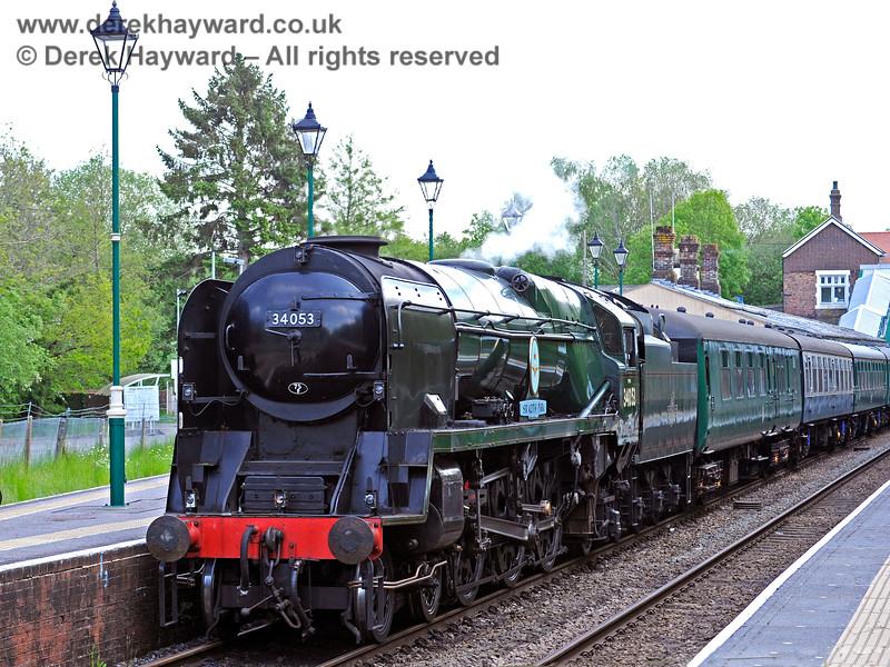 34053 awaits departure at Eridge. 29.05.2021 18019